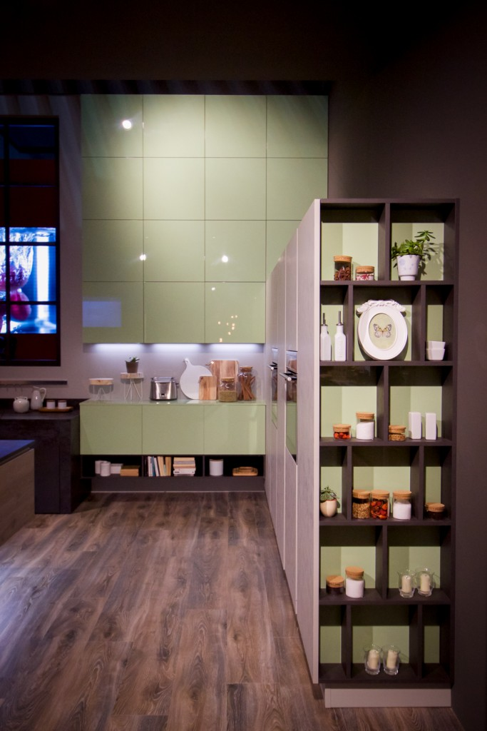 Practical and aesthetic, open shelving can be incorporated into cabinetry or used as a stand alone design element.