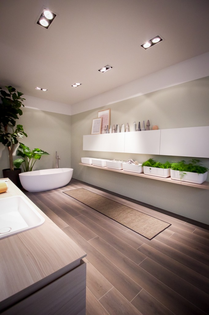 Bathroom design from Salone del Mobile in Milan Italy