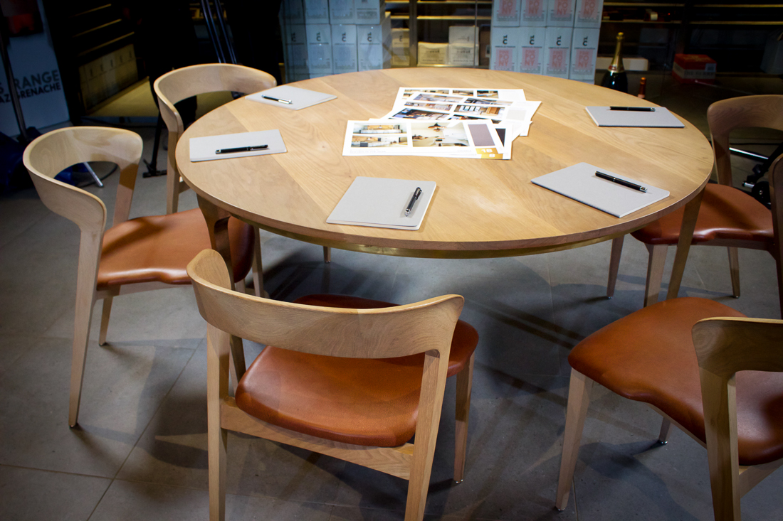 Caesarstone pens, moleskin notebooks and printed entries were the styling elements for the round table judging.
