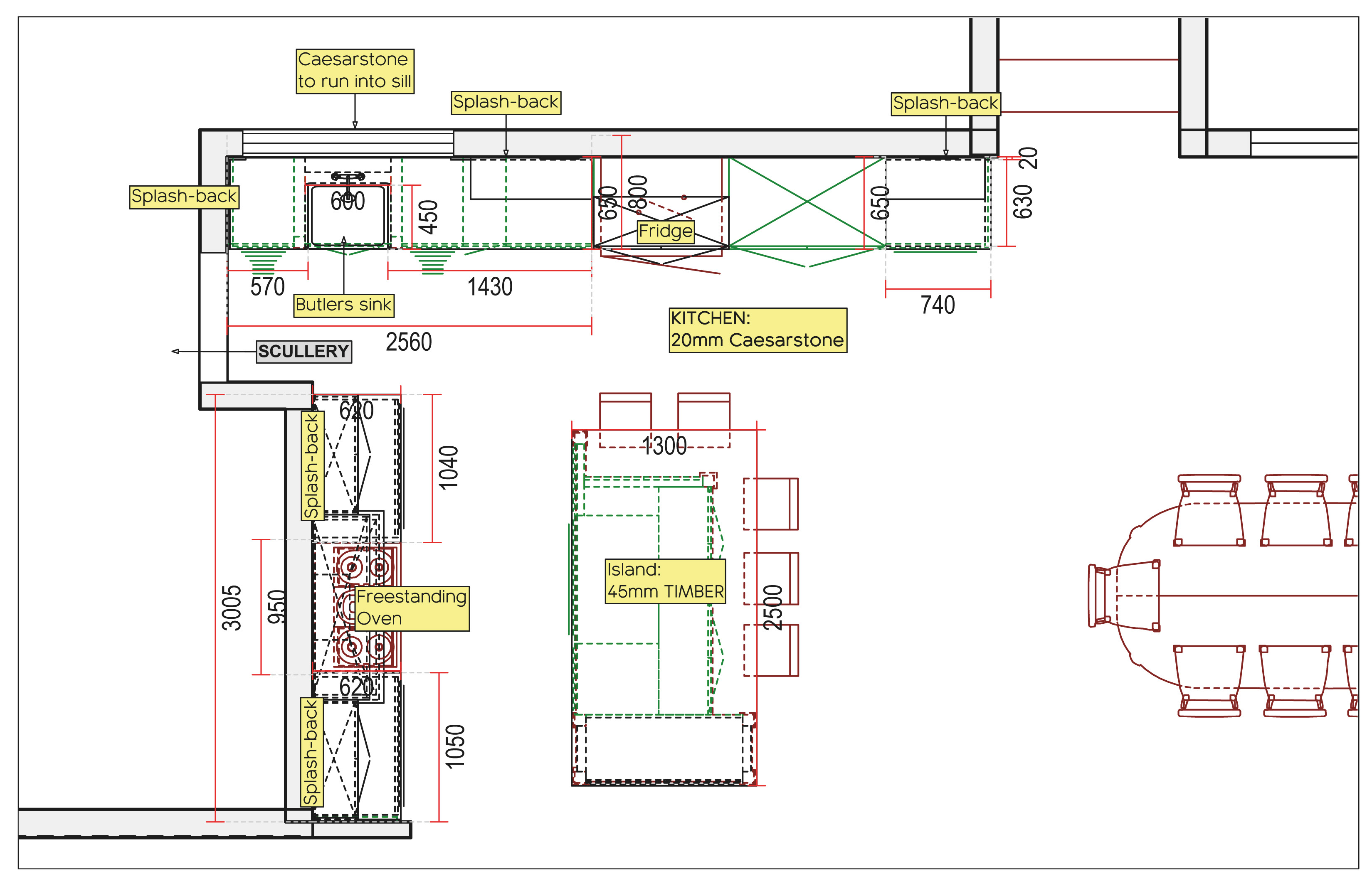 A closer look at the technical aspect of Beth's kitchen design for the Mckenzie family.