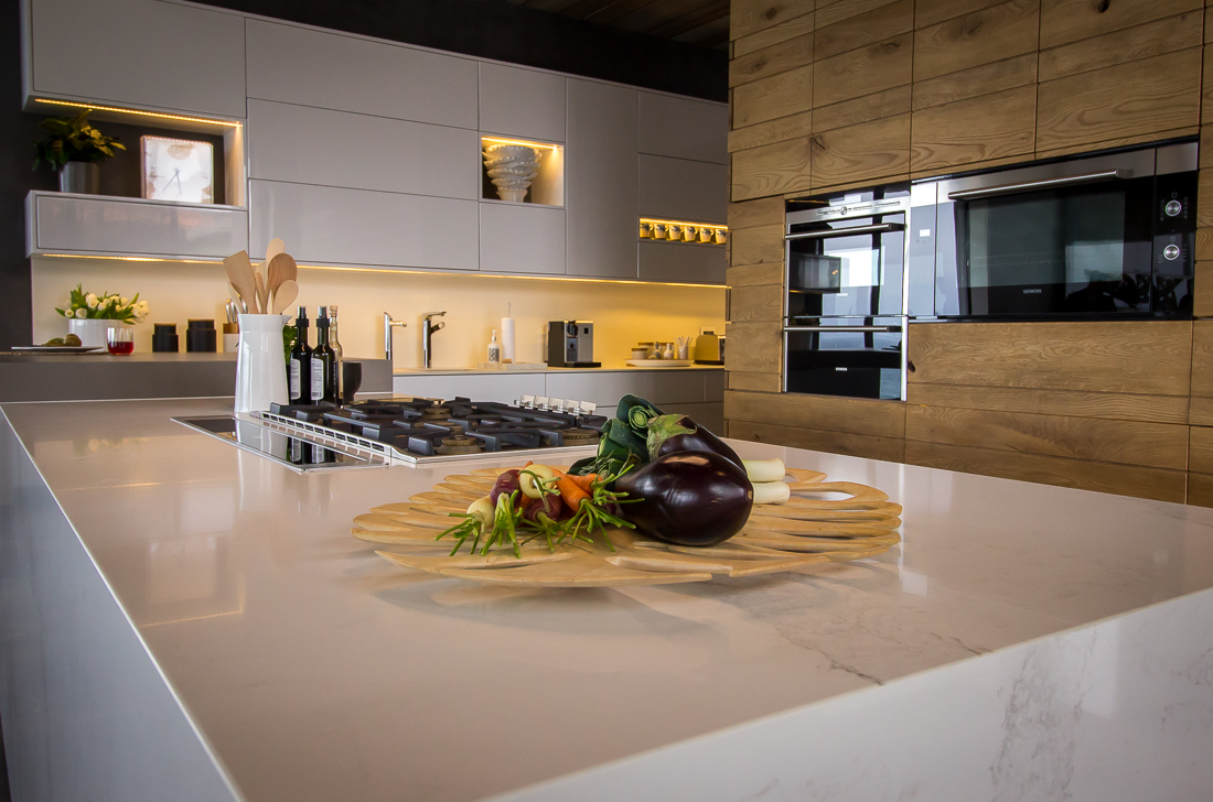 The gorgeous marble veining in Calacatta Nuvo Caesarstone quartz surfaces make it a classic countertop choice that will transcend all the fads.