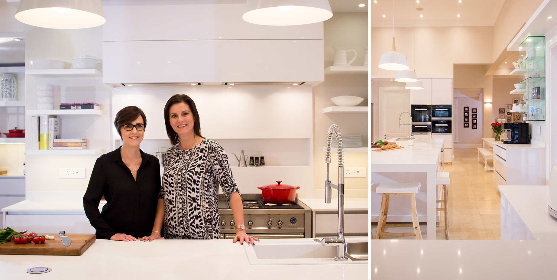 Kim walked Tania through the designing process step by step to create her ultimate kitchen design with Pure White Caesarstone surfaces.