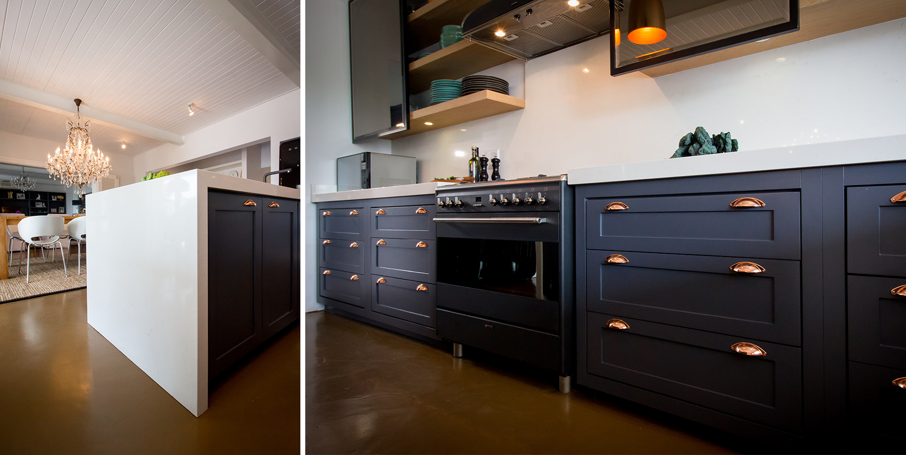 Incorporating drawers instead of cupboard doors for storage access was one of Kim's kitchen design highlights.