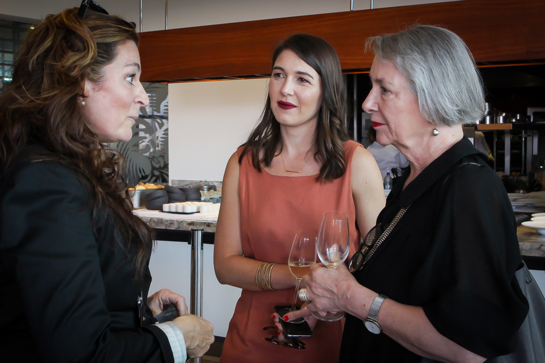 Dr Susanne Reuther, head of KitchenAid Africa, chats with Bielle Bellingham and Editor of VISI, Sumien Brink.