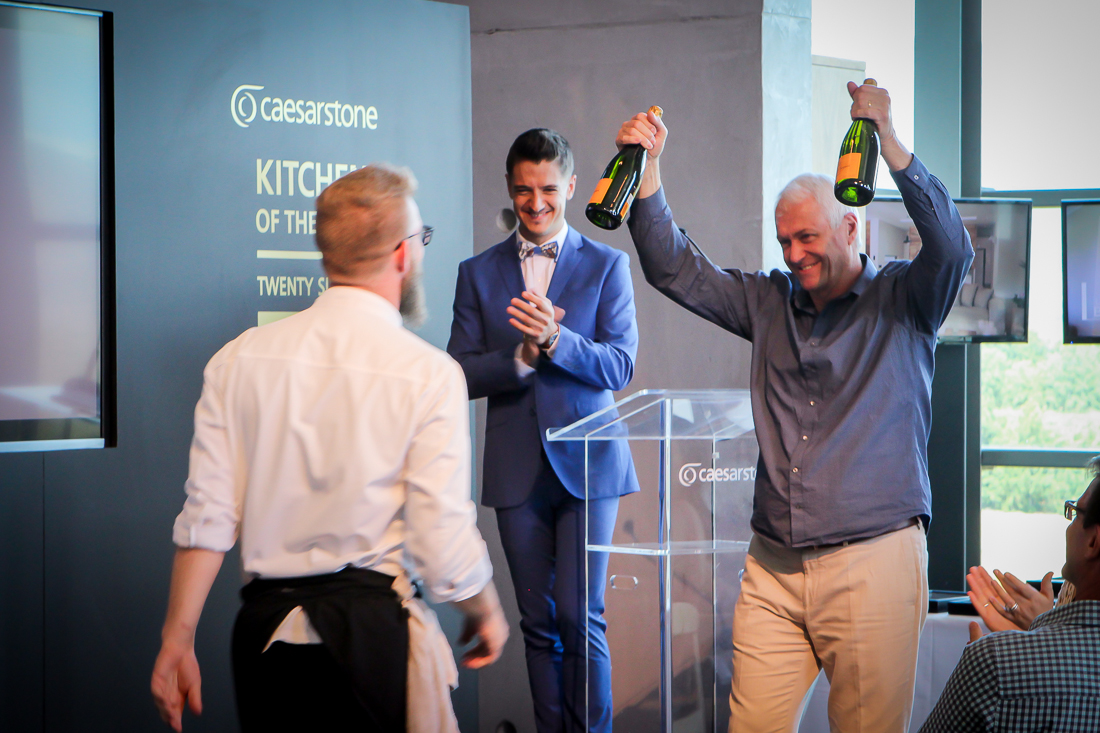 Trevor King congratulates Chef of the Year, Gregory Czarnecki, and his team on their recent accolades.