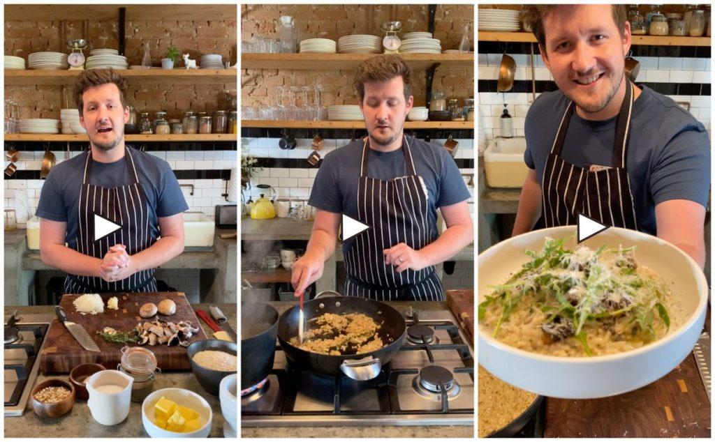 Matt Manning Chef Mushroom Risotto Recipe Caesarstone Kitchen
