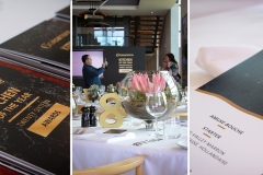 The decor and event stationery complemented the beautiful interior design of the restaurant.